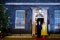 ترامپ در مهمانی ملکه انگلیس +فیلم
