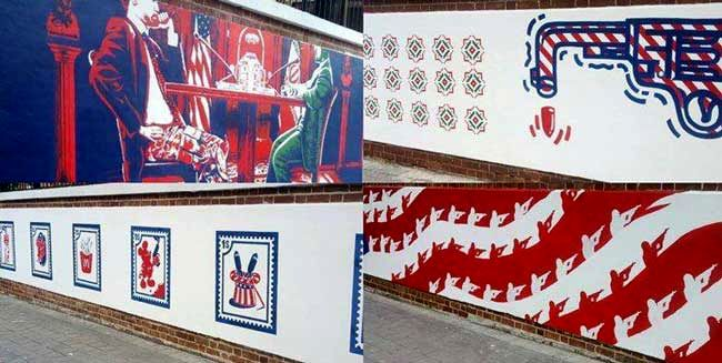دیوارنگارههای جدید سفارت سابق آمریکا در تهران