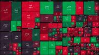نقشه بورس امروز بر اساس ارزش معاملات/ مقاومت برخی از بزرگان در برابر صف فروش