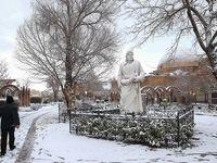 برف در تبریز و اردبیل +تصاویر