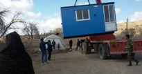 توزیع ۸۰۰دستگاه کانکس در منطقه زلزلهزده کوهبنان