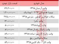 قیمت جدید وانت صفر در بازار تهران +جدول