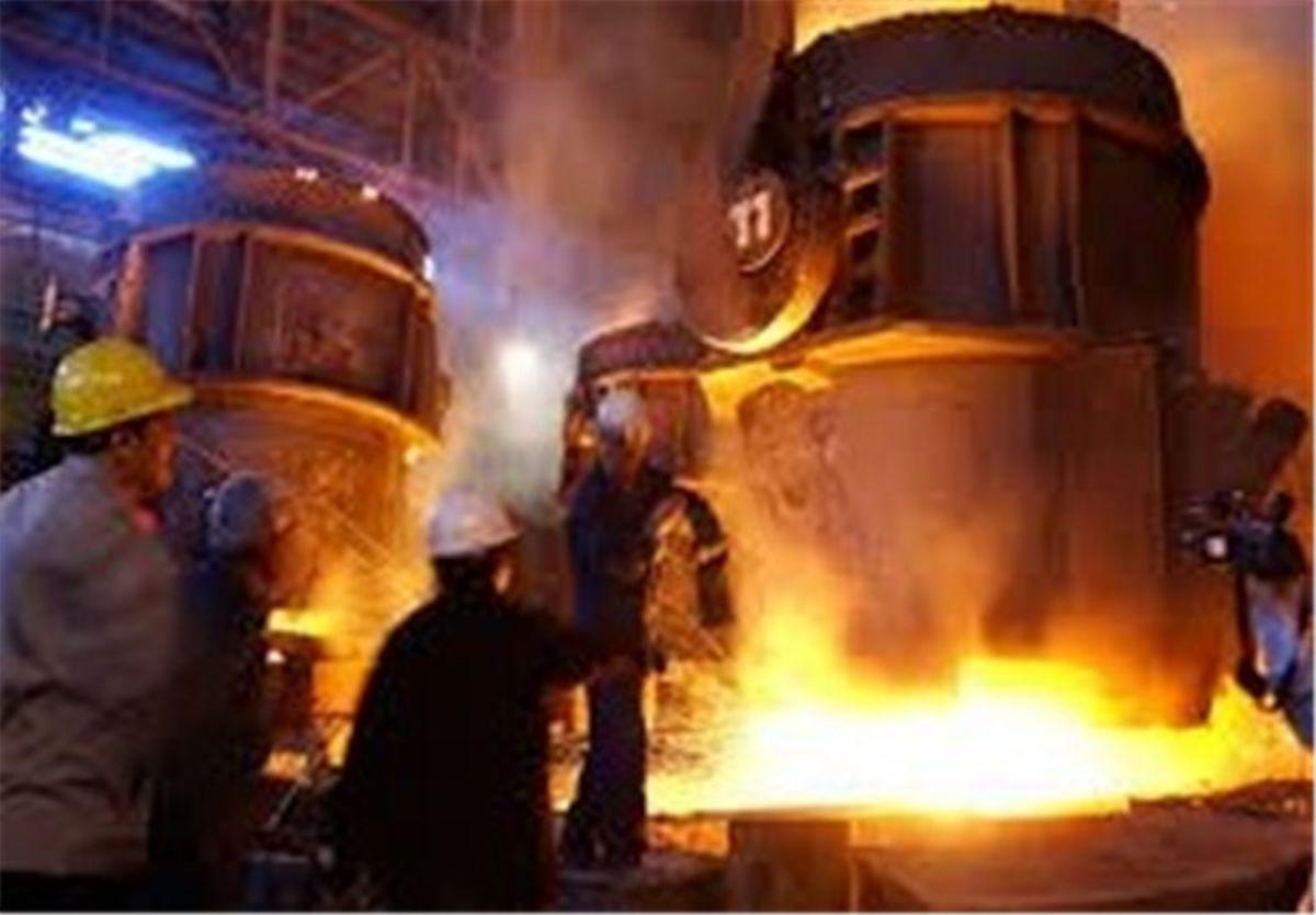 دستیابی به رکورد روزانه تولید ۲۱ ذوب در کوره قوس شماره ۱ فولادسازی