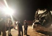 تصادف وحشتانک اتوبوس با تریلی +عکس