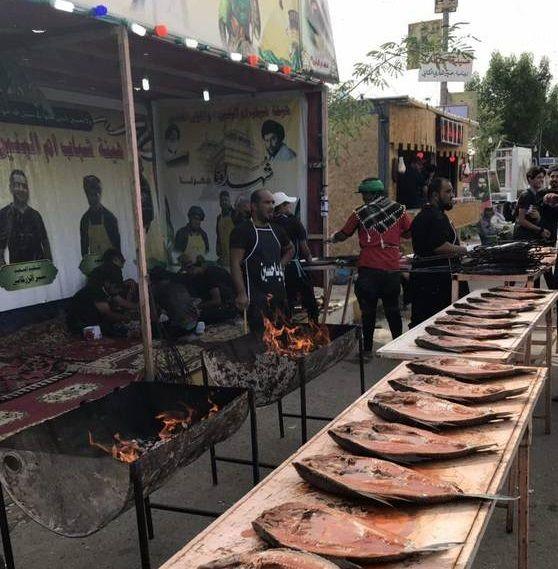غذای اعیانی در راه کربلا +تصاویر
