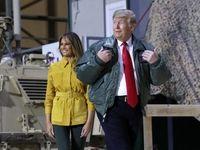 تیپ جالب ملانیا ترامپ در سفر به عراق +عکس