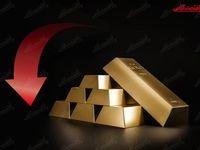 سقوط ۵۵دلاری اونس طلا