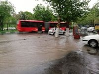 بارش باران سیل آسا در تبریز