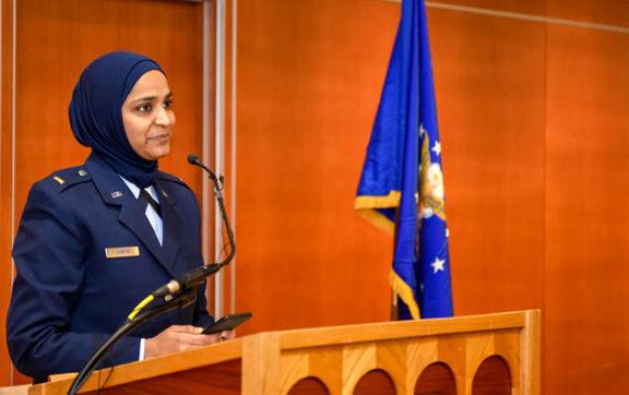 یک زن مسلمان عضو ارتش آمریکا شد +عکس