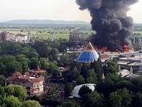 آتشسوزی در شهربازی «اروپا پارک» آلمان +ویدیو