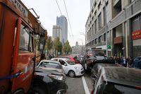 گره خوردن خودروها در اوکراین +عکس