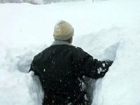 ارتفاع ۱۸۰ سانتیمتری برف در بانه +عکس