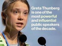 نوجوان سوئدی یکی از تاثیرگذارترین سخنرانان دهه شد