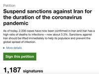 درخواست لغو تحریمهای آمریکا علیه ایران از مرز هزار امضا گذشت