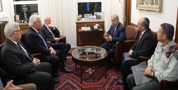 رایزنی نتانیاهو با معاون وزیر خارجه آمریکا درباره ایران
