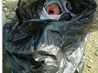 رها شدن نوزاد یک روزه در خیابان
