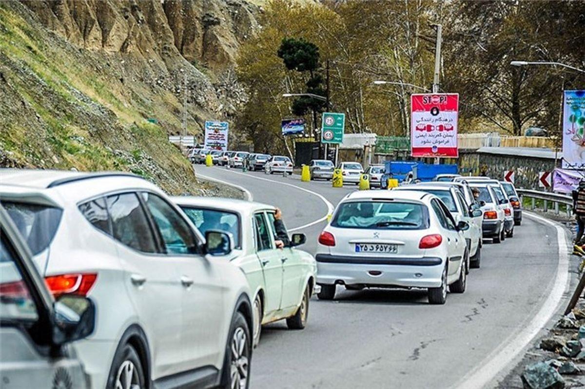 ترافیک پرحجم و نیمه سنگین در محورهای منتهی به تهران