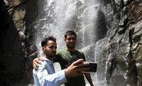 یک روز گرم تابستانی در آبشار گنجنامه همدان +تصاویر