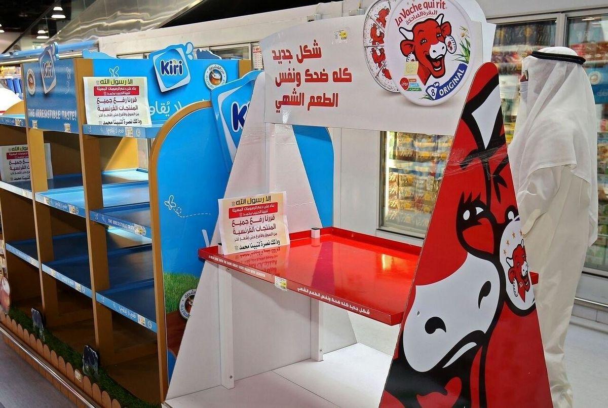 موج تخلیه فروشگاه کشورهای عربی از کالاهای فرانسوی به اردن رسید