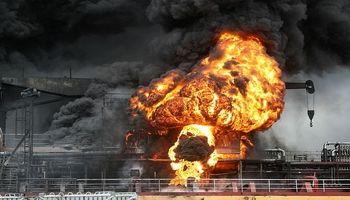 لحظه انفجار تانکر روغن در کره جنوبی +فیلم