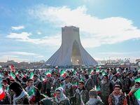راهپیمایی ۲۲ بهمن در تهران +تصاویر