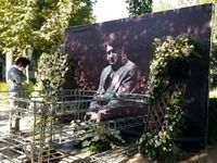 مزار استاد شجریان یک روز بعد از خاکسپاری +عکس