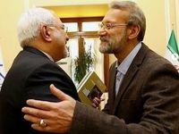 عکسی که ظریف از علی لاریجانی منتشر کرد