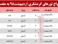 تور شیراز چند؟