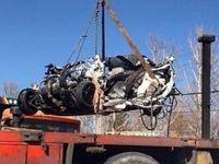 تصاویر دلخراش از رد شدن کامیون از روی پراید