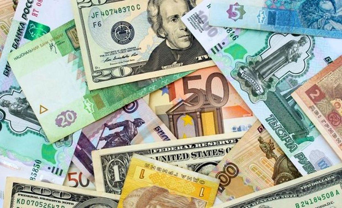 نرخ ۱۰ ارز بانکی کاهش یافت