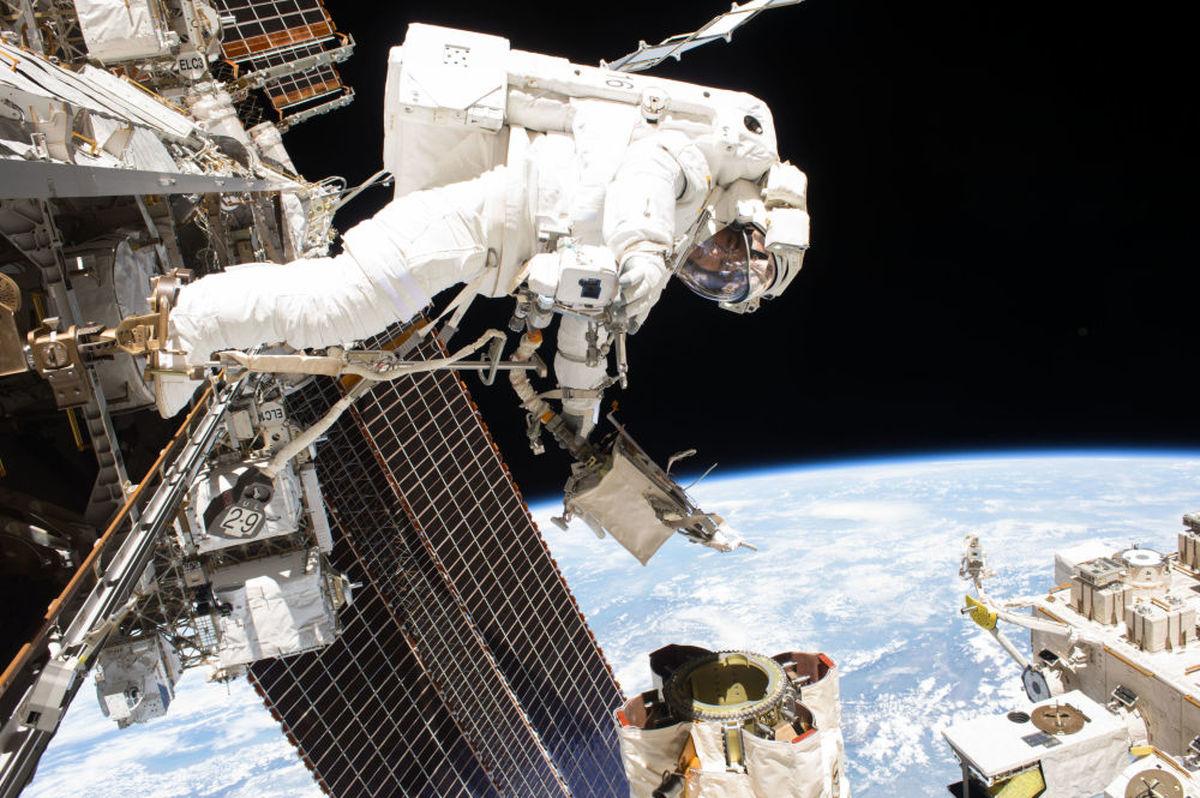 سفر 3فضانورد به ایستگاه فضایی