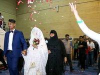 جشن ازدواج دو زوج سیل زده خوزستانی +تصاویر