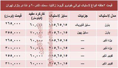 انواع لاستیک ایرانی خودرو چند؟ +قیمت