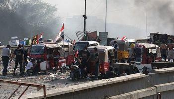 جولان توک توکها در اعتراضات مردم عراق +عکس