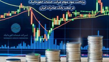 پرداخت سود سهام شرکت خدمات انفورماتیک در شعب بانک صادرات ایران