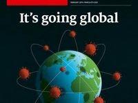 طرح روى جلد اکونومیست که به همهگیری ویروس کرونا میپردازد