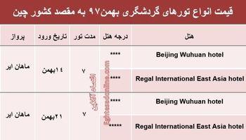7شب اقامت در چین چقدر آب میخورد؟