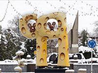 بارش برف در همدان +تصاویر