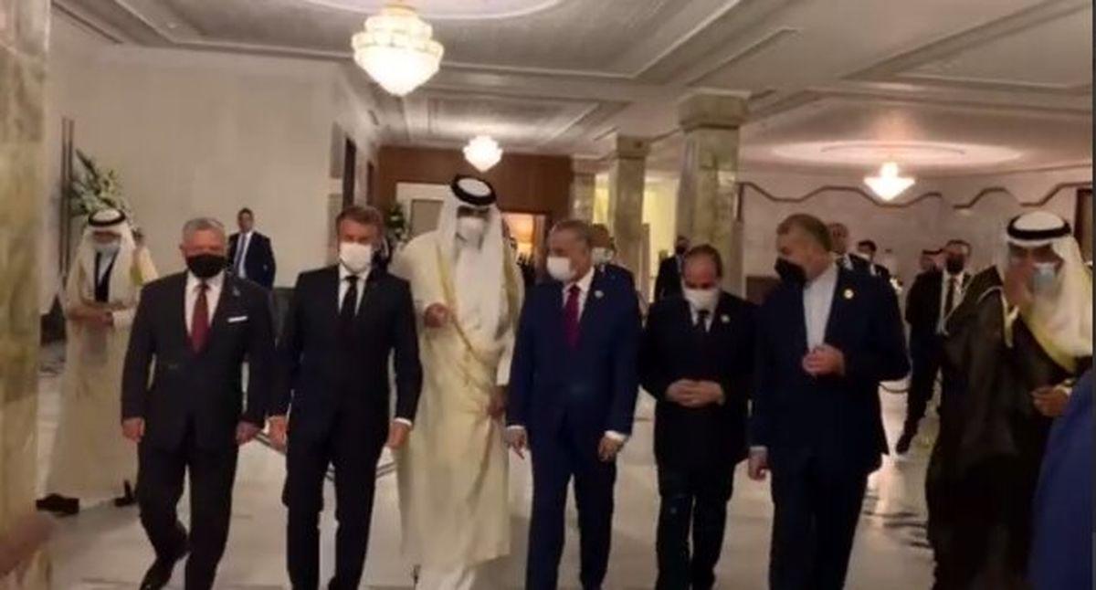 امیرعبداللهیان با رییس جمهور مصر در نشست بغداد دیدار کرد + عکس