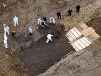 دفن قربانیان کرونا در گورهای دسته جمعی در آمریکا