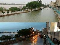 جاده ساحلی شرقی اهواز، محدوده پل نادری، دیروز و امروز +عکس