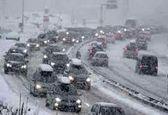 لغو هزاران پرواز در پی بارش برف در مناطقی از آمریکا +فیلم