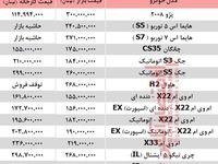 قیمت خودرو شاسی بلند تولید داخل +جدول