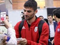 مراسم استقبال از کاروان تیم ملی فوتبال در فرودگاه +تصاویر