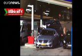 سرقت خودرو از پمپ بنزین در فرانسه +فیلم