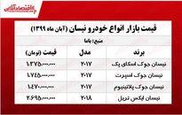 قیمت انواع نیسان در بازار تهران +جدول