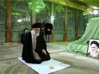 حضور رهبر انقلاب در مرقد مطهر امام خمینی(ره) و گلزار شهدا +تصاویر