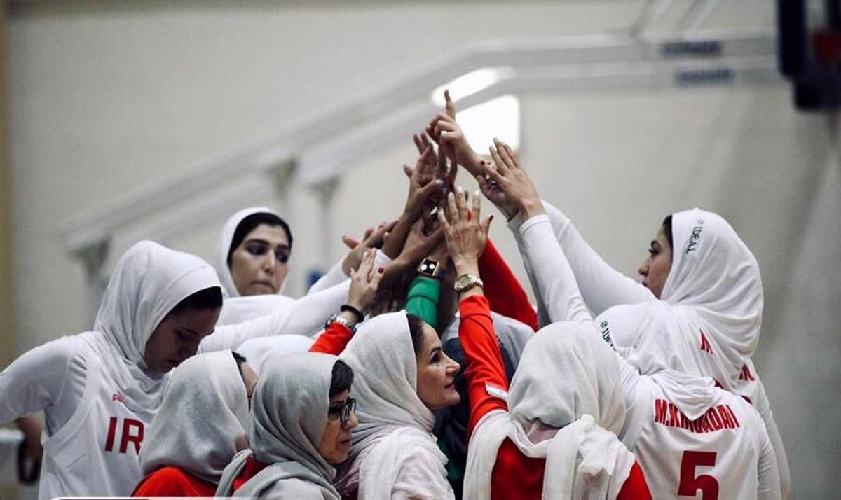 برد ارزشمند بسکتبال زنان ایران در رقابتهای غرب آسیا
