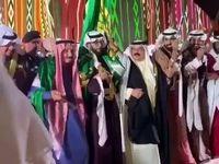 ملک سلمان با پادشاه بحرین رقصید +تصاویر