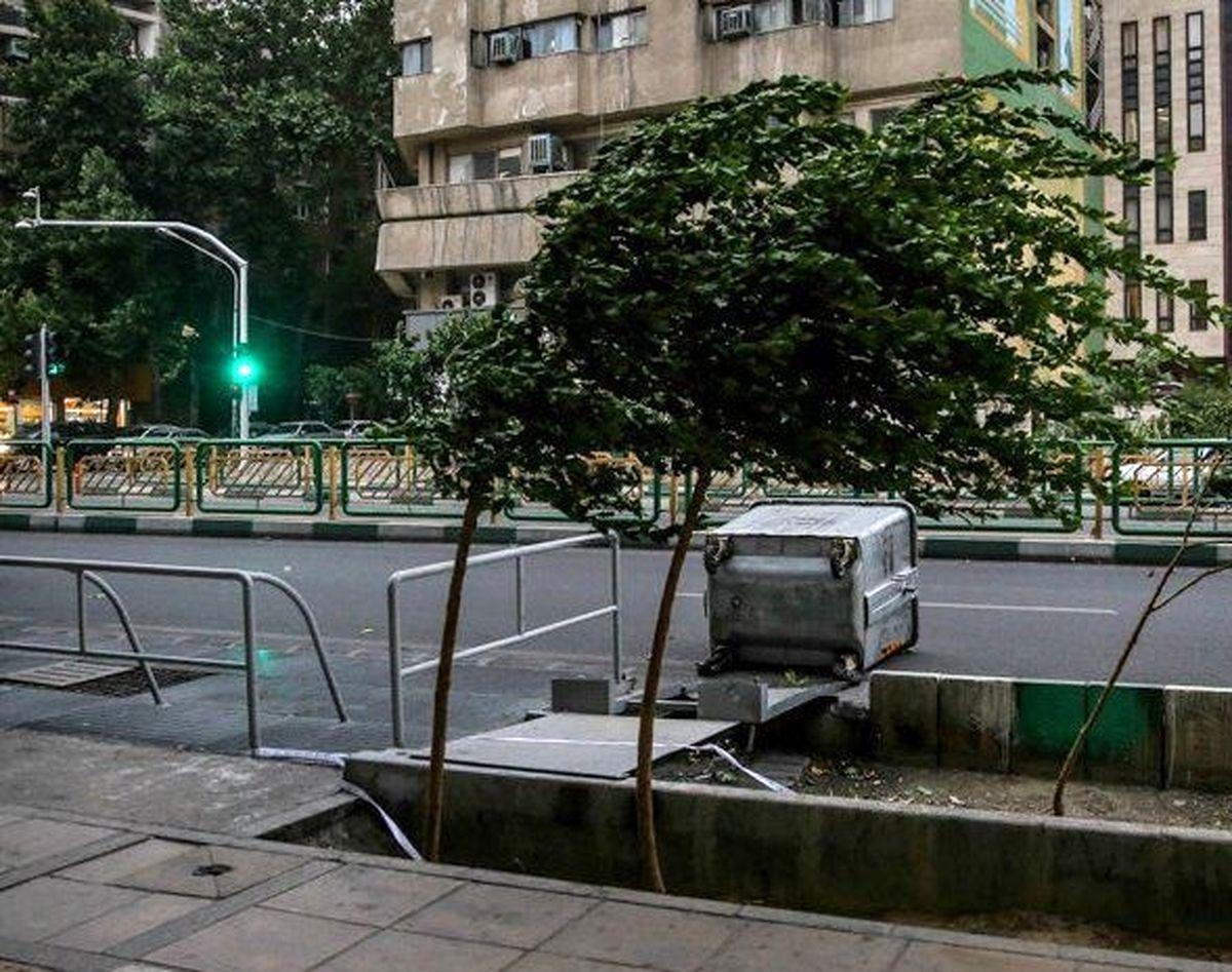 تندباد تهران حادثه جانی در برنداشت